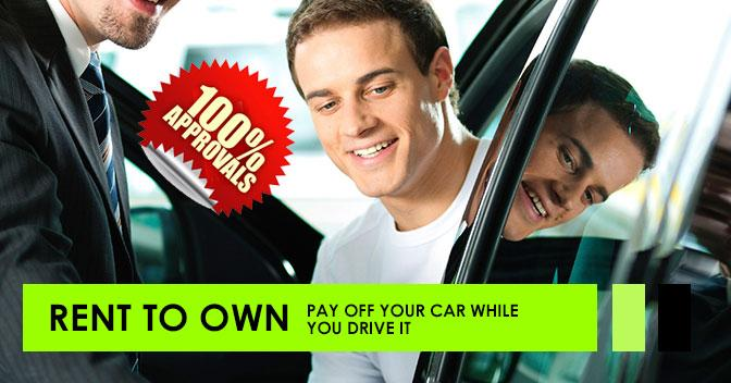 Rent To Own & pay off your vehicle while you drive it